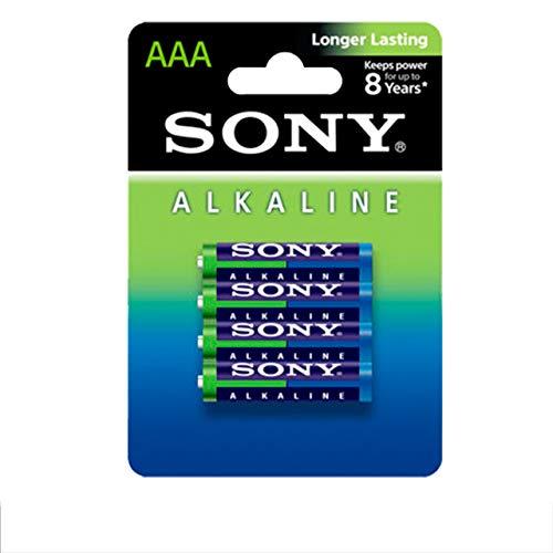 Sony Alkaline AM4 AAA LR03, Ministilo Micro, 1,5 V, Packung mit 4 Stück