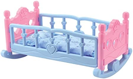 N A Doll Furniture Rocking Baby Doll Cradle Bed Bedding for 10 Inch Doll Decor product image