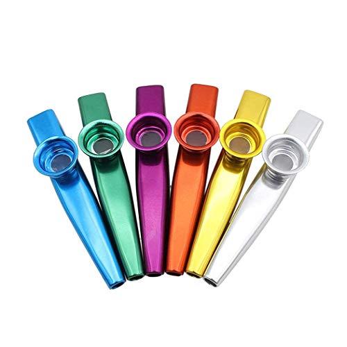 Metall Kazoo,6 Pack Metall Kazoos Musikinstrumente Flöte Kinder Aluminiumlegierung tolles Geschenk Kazoos für Erwachsene Kinder