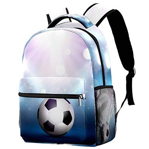 Mochila de fútbol debajo del foco para la escuela, mochila de viaje, casual, para mujeres, adolescentes, niñas y niños
