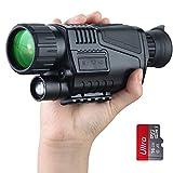 Dispositivo de visión nocturna digital 5 x 40, gran pantalla para visión nocturna de 200 m, alcance de visión nocturna, zoom de 5 aumentos, monocular de visión nocturna, vídeo con tarjeta SD de 8G