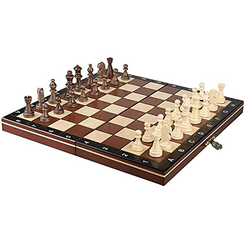 QJN International Chess Chess Set, International Chess Folding Chess Set Teaser Games Chess Portable And Travel Classic Board Strategy Game