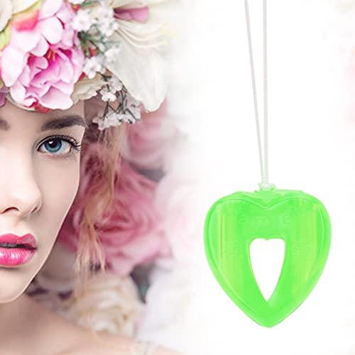 Pendentif de parfum Volatilisation automatique Collier d'aromathérapie en forme de coeur Collier de bouteille de parfum portable pour enfants femme voiture(vert)