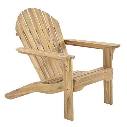 RABURG Gartensessel Adria Premium - Akazie Hartholz, Natur - geölter XXL Design-Gartenstuhl Canadian Adirondack Deck-Chair/Hamburger Alsterstuhl