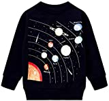 Boys Planet Sweatshirts Cool Long Sleeve Crewneck Pullover Space Shirt Toddler Kids Winter Warm Sweater 3t 029/100