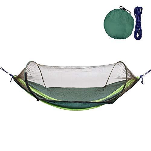 ZHAONAA Peut accueillir Plus de Personnes Camping en Plein air hamac avec Couchage Bug Swing Net Hanging Mesh Mosquito Lit Tente Arbre Sac de Transport Pratique (Color : Dark Green)