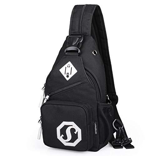 CMZ Shoulder Bag Dual Purpose Crossbody Bag USB Chest Bag Girl Oxford Cloth Bag Fashion Trend Crossbody Bag