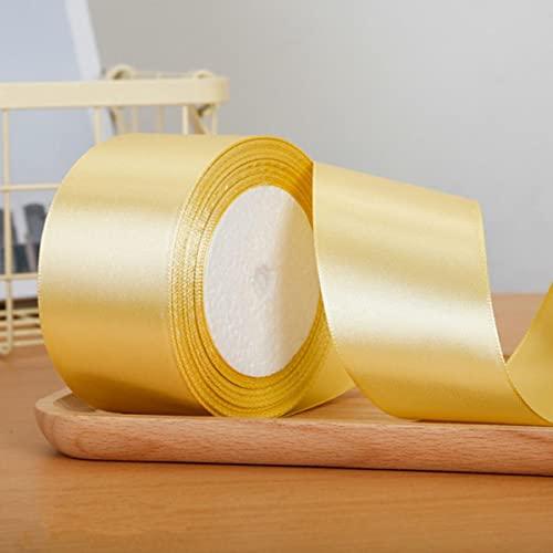 25 Yardas / Rollo de Cintas de satén para Banquete de Boda Caja de Regalo Decorativa Envoltura cinturón DIY Manualidades Hechas a Mano 6 mm 1 cm 1,5 cm 2 cm 2,5 cm 4 cm 5 cm