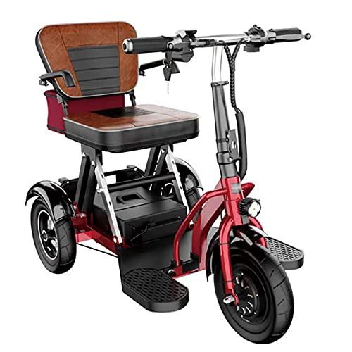 Takmeway Plegable eléctrico de 3 Ruedas Mobility Scooter Triciclo portátil Scooter de...