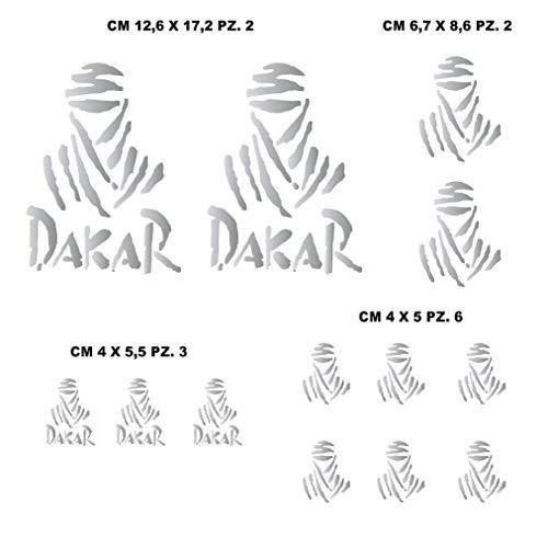 Aufkleber Stickers-kit kompatibel Parigi Dakar Paris Tuareg Moto Decal wählen Code. 1212 (090 Argento)