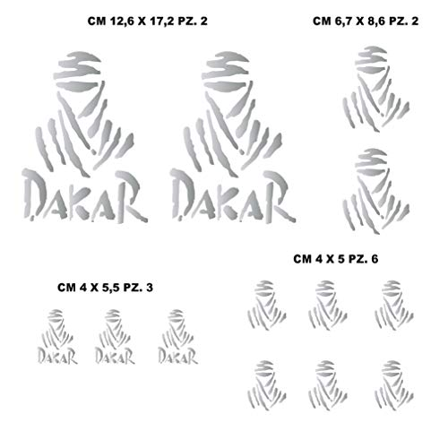 Aufkleber Stickers-kit kompatibel Parigi Dakar Paris Tuareg Moto Decal wählen Code. 1212 (090 Argento)