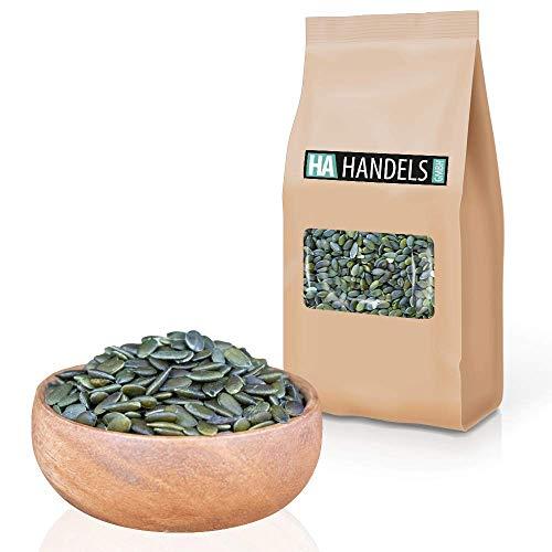 Kürbiskerne geschält grün naturbelassen ungeröstet ungesalzen ohne Schale roh ungeschwefelt unbehandelt zum Backen wiederverschließbare Verpackung 1kg - 5kg (2,5kg)