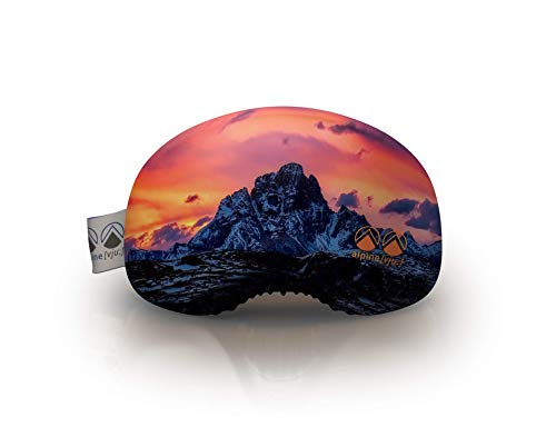 alpine [vju:] - Skibrillen Schutz | Goggle Schutz Cover | elastisch aus Mikrofaser | Unisex (Dolomiten)