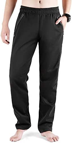 LAMEDA Windproof Thermal Fleece Lined Running Pants for Men Reflective Cycling Hiking Pants product image
