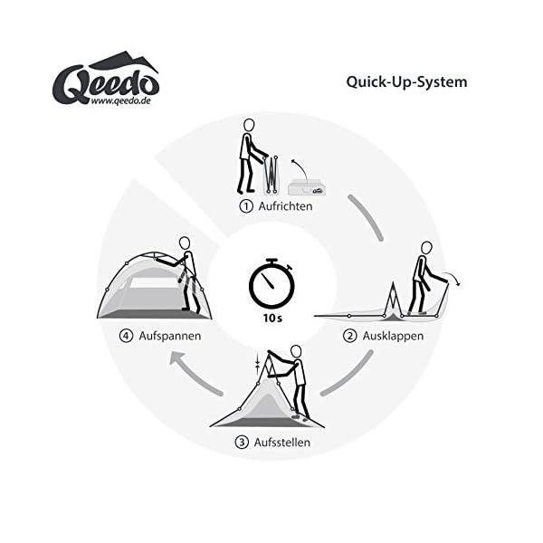 Qeedo Quick Ash 2 Tienda Iglú 2 Personas (Quick Up System) 1