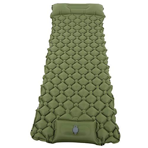 Gedourain Colchón de Aire, Verde Militar Inflable de Nylon del Amortiguador 40D para Acampar hacia Fuera(Ejercito Verde)