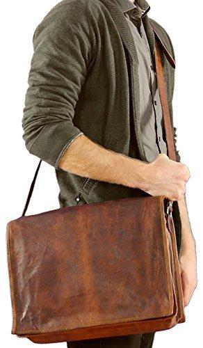 { Shreenath Enterprises } Genuine Leather Messenger Bag 15' Leather Laptop Bag Eco Friendly Leather Bag by RusticTown
