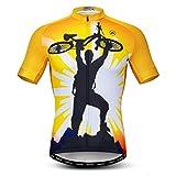 Weimostar - Maillot de ciclismo para hombre, con cremallera, de manga corta, para ciclismo, para hombre, transpirable, de secado rápido, talla XXXL