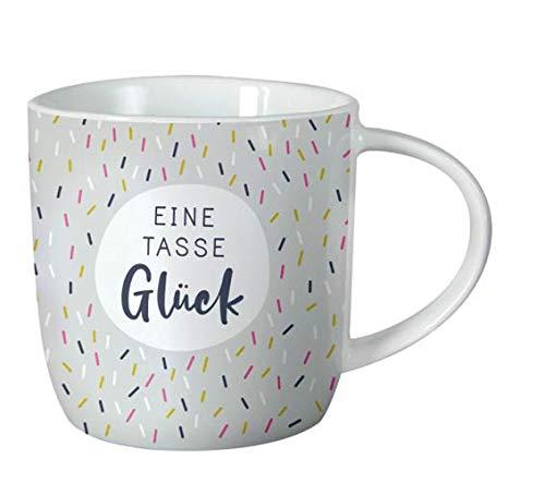 Grafik Werkstatt Kaffee-Tasse fürs Büro| 300 ml | Porzellan Tasse zum verschenken | Eine Tasse Glück