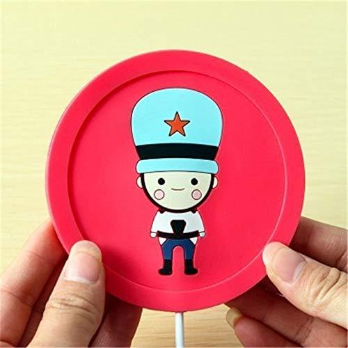 Portavasos USB Warmer Gadget Dibujos animados de silicona Thin Cup-Pad Coffee Tea Bebida USB Gadgets Calentador Bandeja Taza Pad (Color : Rojo)
