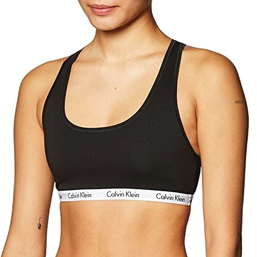Calvin Klein Women's Carousel Logo Bralette, Black, S