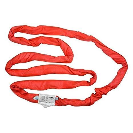 Basket Liftex ENR5X2PD Endless Roundup Roundsling 2 Choker 26400 lb Red Vertical 13200 lb 10600 lb