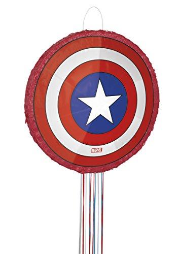 Unique Party 66377 - Captain America Avengers Pinata, Pull String