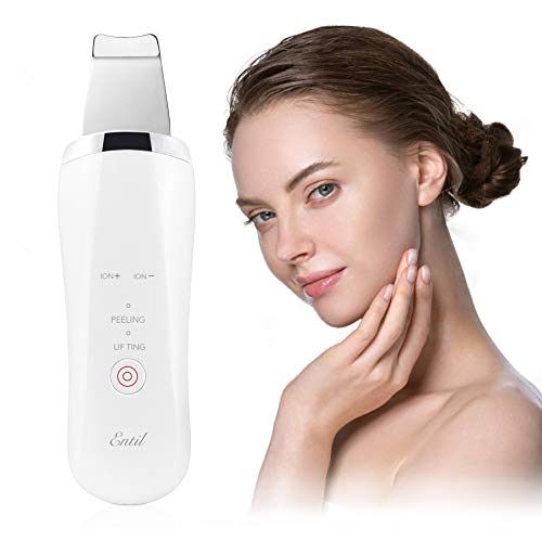 Ultrasonic Skin Scrubber Remover Face Clean with 4 Modes for Pore Cleaner Blackhead Comedones Extraction for Facial Deep Cleansing with Facial lifting Tool