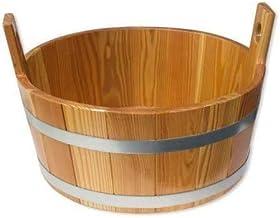 SudoreWell® Seau de sauna en bois de mélèze avec joint hygiénique transparent - 16 L