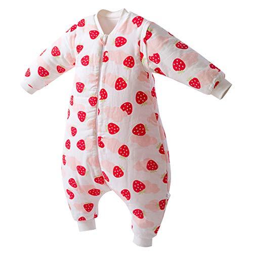 Happy Cherry Pasgeboren Baby Slaapzak Ademende Katoenen Onesie met Benen Afneembare Mouwen Slaap Onesie