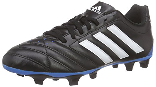 adidas Goletto V Fg Herren Fußballschuhe, Schwarz (Core Black/Ftwr White/Solar Blue), 46 2/3 EU