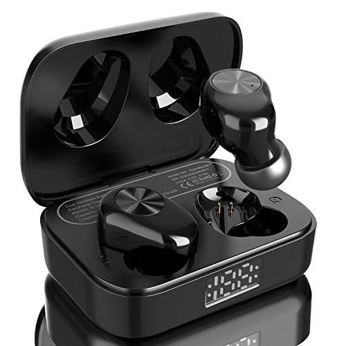 Eono by Amazon - Kabellose Ohrhörer, Eonobuds 1 kabellose Bluetooth-Ohrhörer mit klarem Klang, IPX7 wasserfest, USB-C-Ladung, Bluetooth In-Ear-Ohrhörer für Arbeit, Home Office (Schwarz)