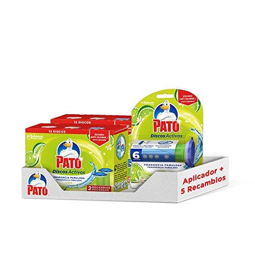 PATO Pack Discos Activos WC Lima, Contiene 1 Aplicador + 5 Recâmbios 120 G