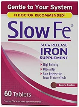 Slow Fe High Potency Iron 45 mg Slow Release 60 Tablets Pack of 2 product image