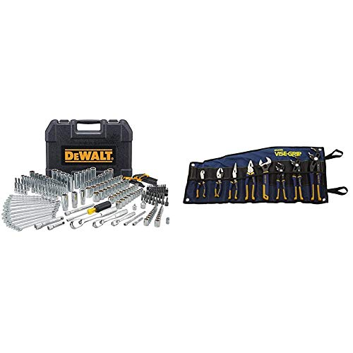 DEWALT Mechanics Tool Set, 247-Piece (DWMT81535) & IRWIN VISE-GRIP GrooveLock Pliers Set, 8-Piece (2078712)
