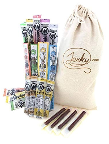 Jerky Gift Basket - 20 Piece Unique Snack Stick Gift Bag - Assorted...
