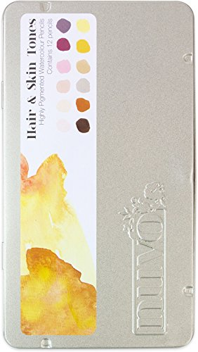 Tonic Studios Nuvo Watercolor Pencils, Multicolor