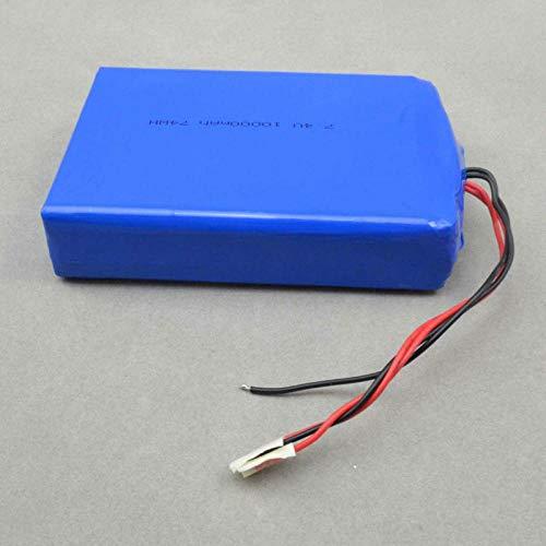 SUNPACE Batería lipo del polímero del li-Ion de 7.4v 10000mah, batería Recargable 1160110-2p