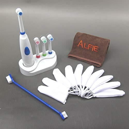 Alfie Pet - Teal Toothbrush, Finger Gloves, Electric...