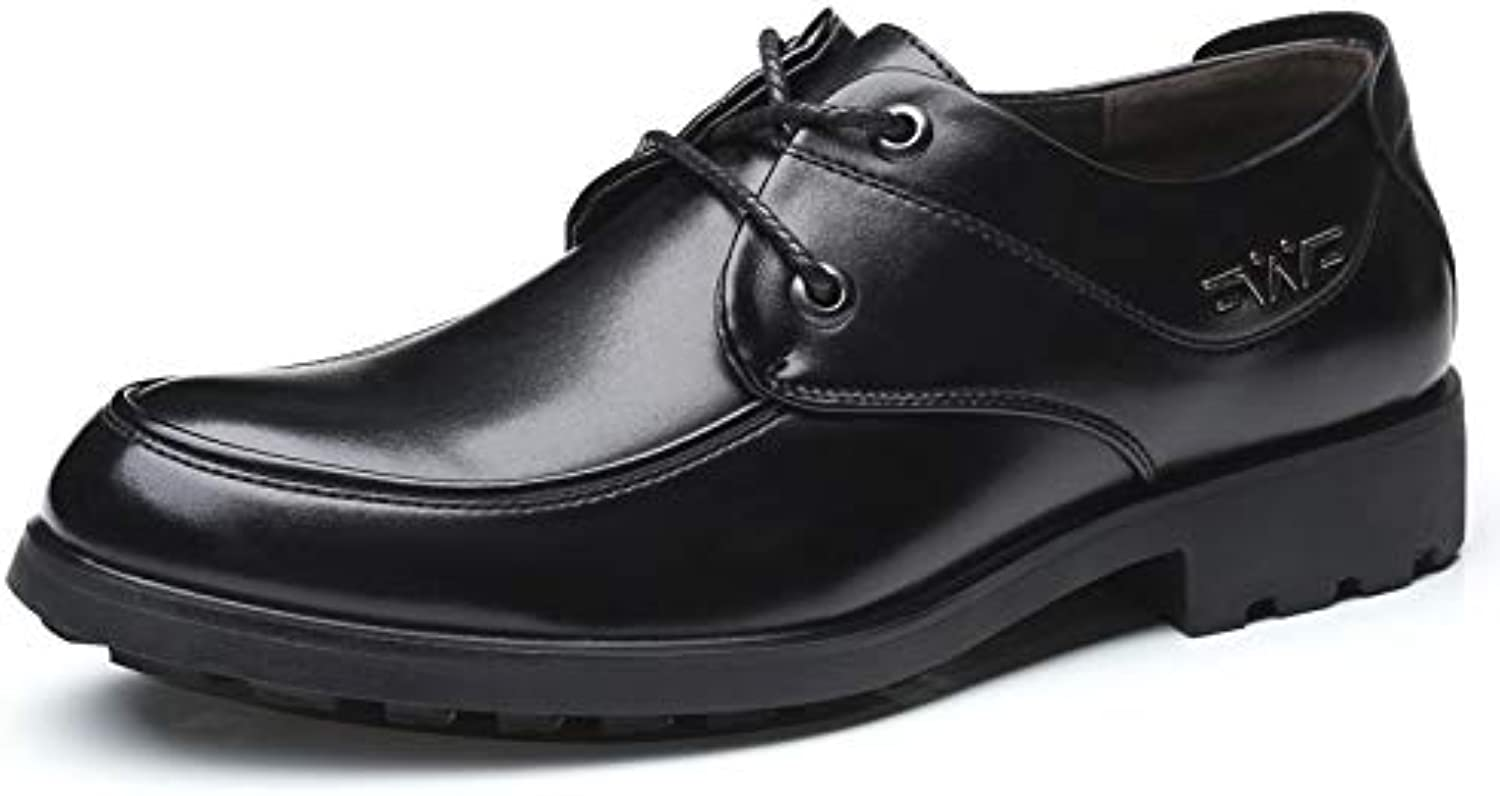 LOVDRAM Men'S Leather shoes 4748 Large Size Dress shoes Men'S Fashion Business Low To Help Casual shoes
