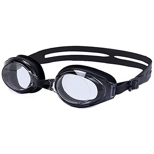 ZXLLNEUR - Gafas de natación, correas ajustables, antivaho y protección UV, con funda protectora, color negro, tamaño Free