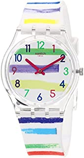 Swatch Womens Analogue Quartz Watch with Silicone Strap GE254