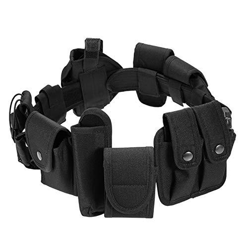 ZQO Cinturón táctico de Guardia de policía Equipo de Guardia de Seguridad de policía Cinturón táctico con Sistema de Funda para Entrenamiento al Aire Libre Caza