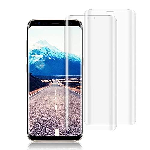 wsiiroon Panzerglas Schutzfolie kompatibel mit Samsung Galaxy S8 (2 Stück), 9H Härtegrad Panzerglasfolie, Anti-Kratzen, Anti-Öl, Perfekt Displayschutzfolie