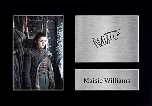 HWC Trading Maisie Williams A4 gedrucktes Autogramm Arya Stark Game of Thrones Druck Foto Bild Display