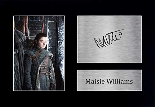 HWC Trading Maisie Williams A4 gedrucktes Autogramm Arya Stark Game of Thrones Druck Foto Bild Display
