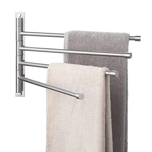 KES Swivel Towel Bar SUS 304 Stainless Steel 4-Arm Bathroom Swing...