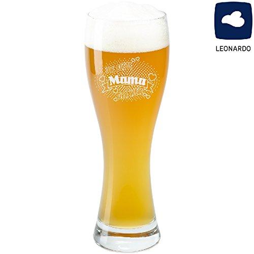 Bierglas - beste van de wereld: een gepersonaliseerd glas voor tarwebier met liefdevolle spreuk - originele geschenken voor mannen van uitstekende kwaliteit van Leonardo