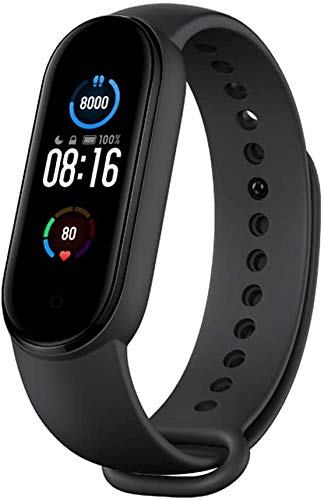 "Xiaomi Mi Smart Band 5 (2020) 1.1"" AMOLED Color Screen, IP68 Waterproof Wristband BT 5.0 Fitness, Sleep, 24/7 Heart Rate, Sports, Swimming, Health Tracker (Global Model, Black)"