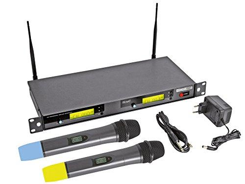 DOUBLE MICROPHONE PLL UHF SANS FIL 8 CANAUX AVEC AFFICHEUR LCD